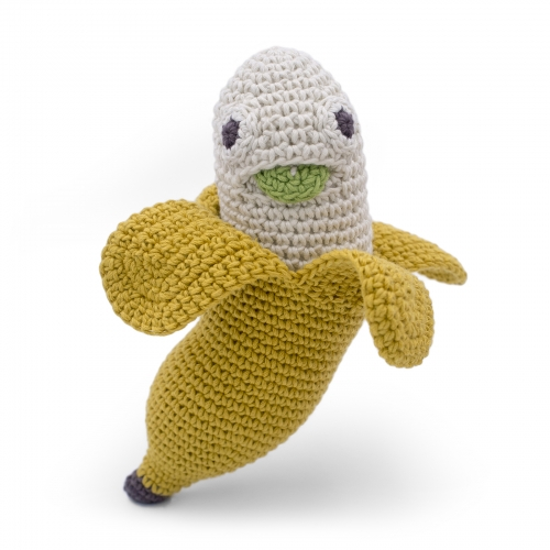Joshua Banana Hand Crocheted Rattle