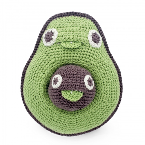 Katia Avocado & Her Baby Seed Hand Crocheted Music Box