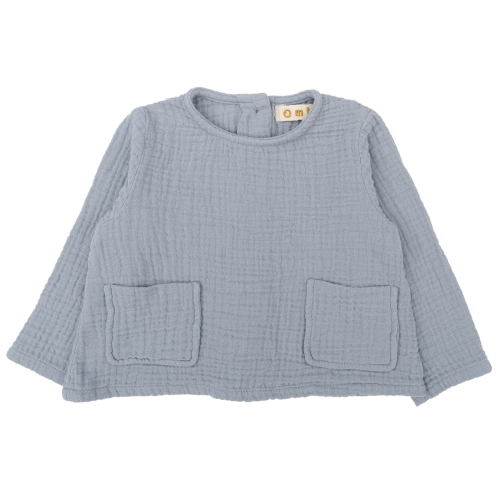 Woven Organic Cotton Long Sleeved Bailey Top