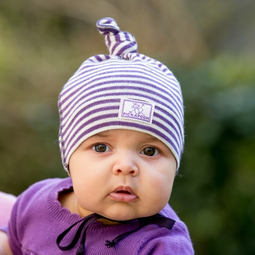 Fine Wool/Silk Knot Baby Hat by Pickapooh