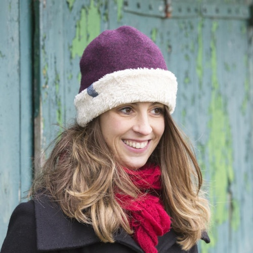 Girl's Merino Wool Fleece Hat with Organic Cotton Lining