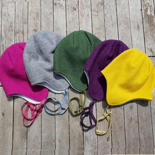 Children's Jack Hat in Organic Boiled Merino Wool