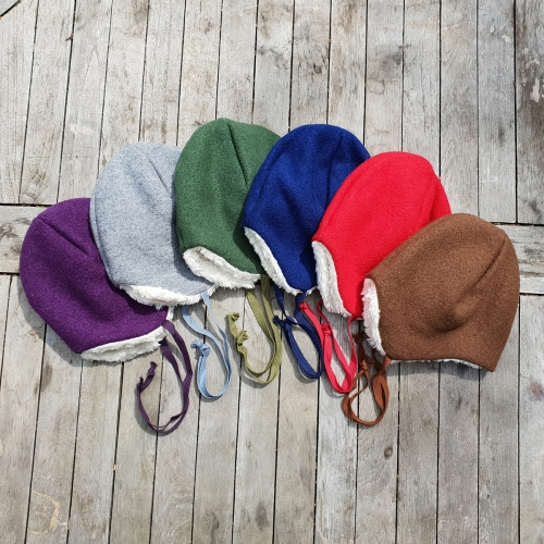 Children's Jonas Hat In Organic Boiled Merino Wool