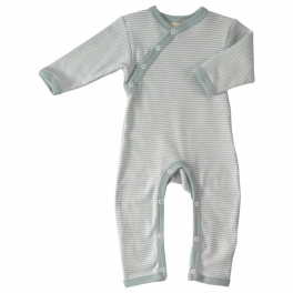 Striped Romper in Pure Organic Cotton