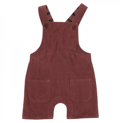 Fully Lined Baby Dungarees in Organic Cotton Corduroy