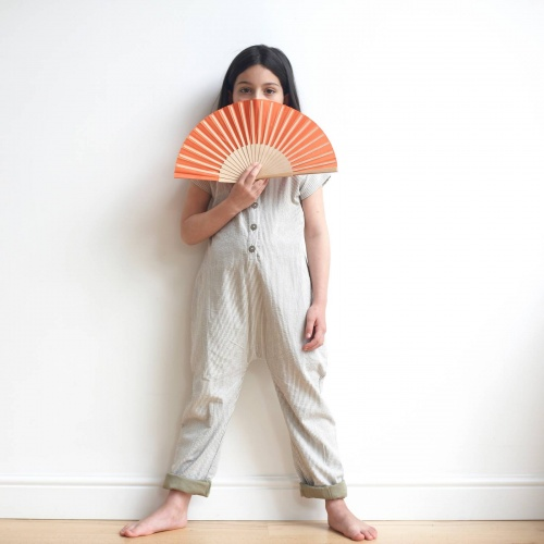 Organic Cotton Seersucker Jumpsuit