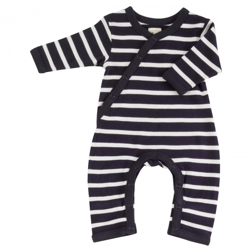 Pure Organic Cotton Striped Romper