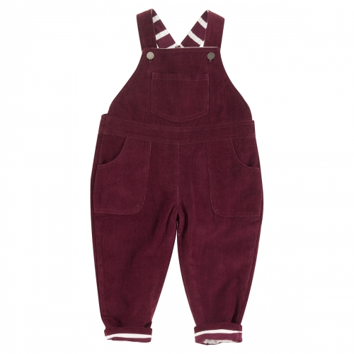 Children's Fully Lined Organic Cotton Corduroy Dungarees
