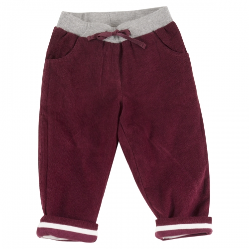 Children's Fully Lined Organic Cotton Corduroy Trousers