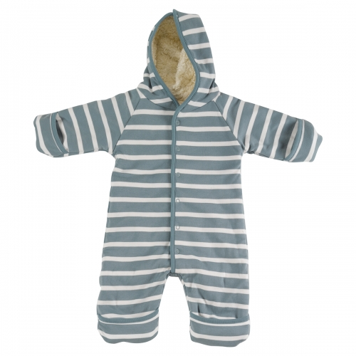 Soft Organic Snugglesuit With Organic Cotton Polar Lining