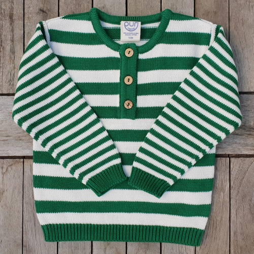 Soft Organic Striped Baby Jumper