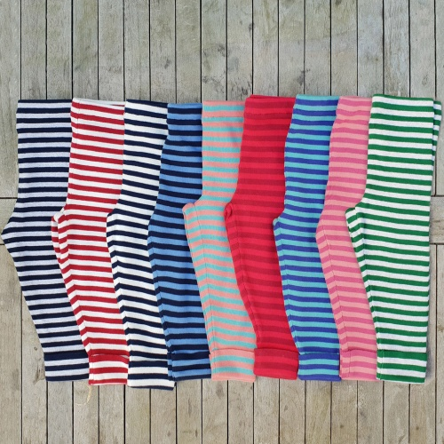Super Soft Stripy Leggings in Knitted Organic Cotton