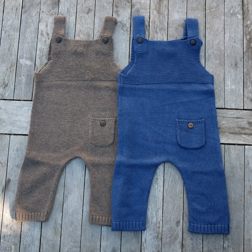 Soft Organic Cotton & Wool Blend Dungarees