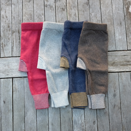 Baby Harem Pants In Wool Organic Cotton Blend