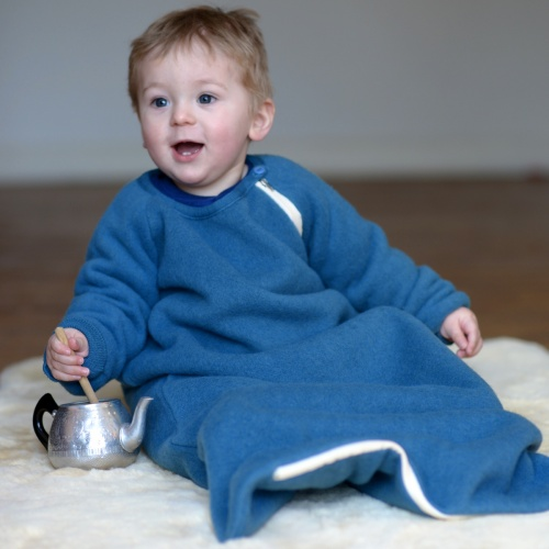 Merino Wool Fleece Sleeping Bag with Sleeves