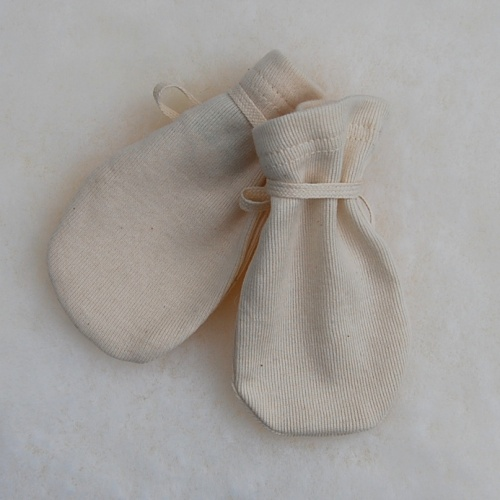 2-Pack - Organic Cotton Scratch Mitts