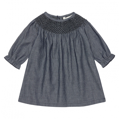 Anouk Baby Dress in Organic Cotton Chambray