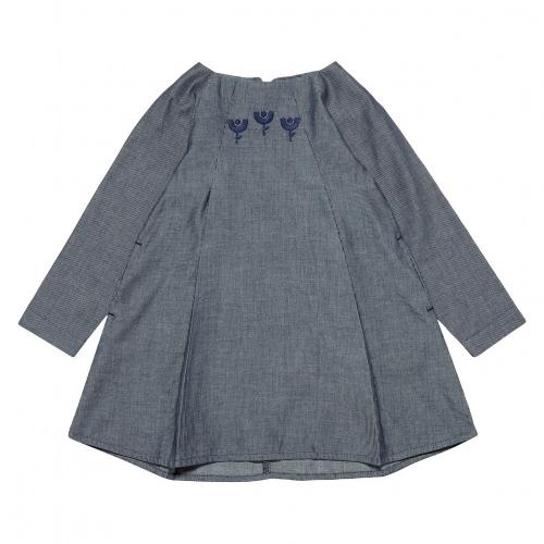 55014c096f2 Raphaela Dress in Organic Cotton Chambray