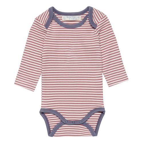 6c04f835ca Soft Organic Cotton Long Sleeved striped Baby Body
