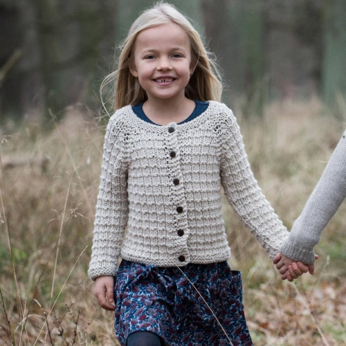 Children's Hand-knitted Llama Cardigan