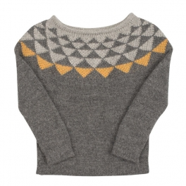 Raglan Triangle Jumper in Softest Baby Alpaca
