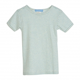 Stripy Short-Sleeve Tee in Soft Organic Cotton