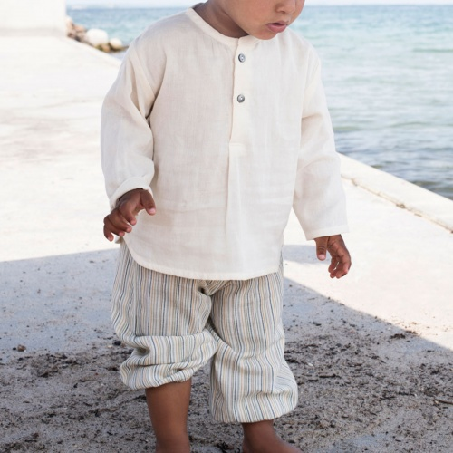 Woven Organic Cotton Baby Pants