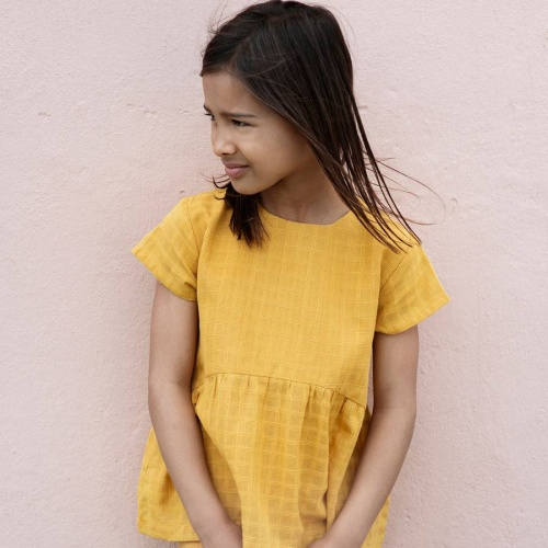 Children's Blouse in Woven Organic Cotton