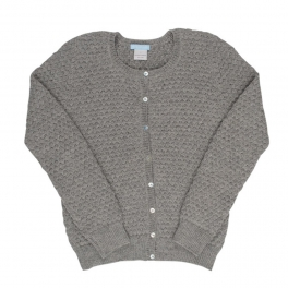 Women's Textured Cardigan in Soft Alpaca