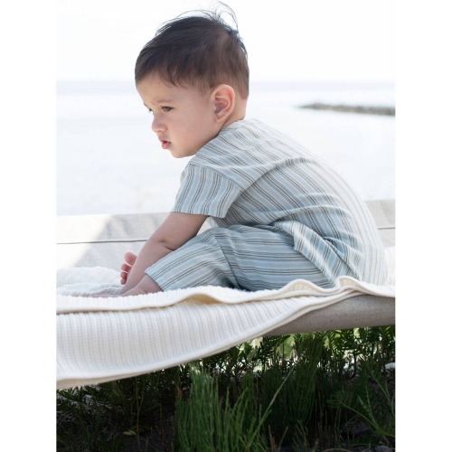 Organic Cotton Baby Suit with Buttons