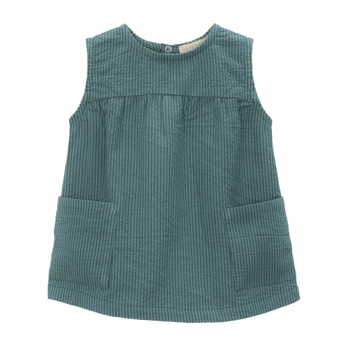 Baby Pocket Dress in Woven Organic Cotton