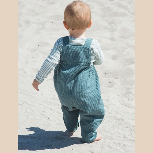 Baby Dungarees in Woven Organic Cotton