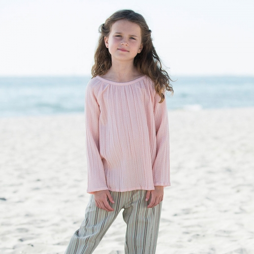 Dobby Blouse in Woven Organic Cotton