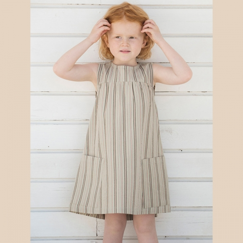 Pocket Dress in Heavy Woven Organic Cotton