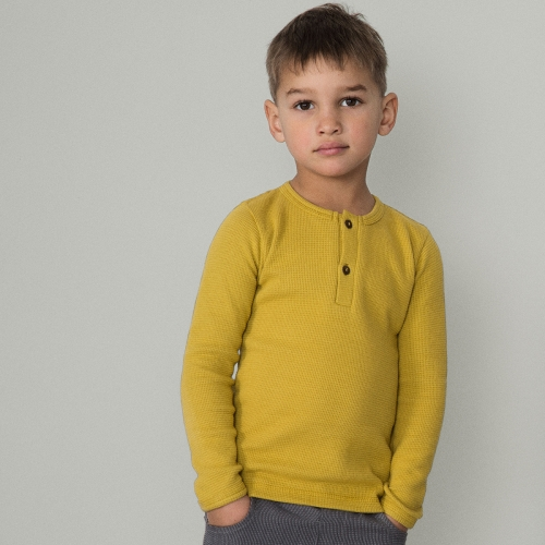 Children's Waffle Long Sleeved Top