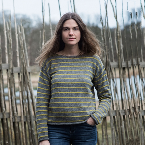 Women's Baby Alpaca Stripe Jumper