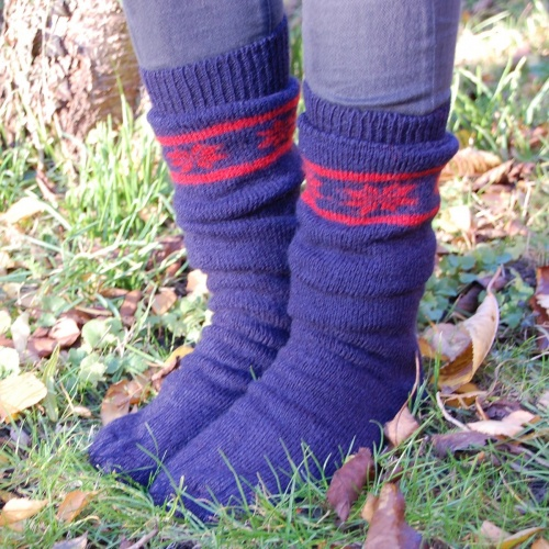Ski / Welly Socks in 100% Wool