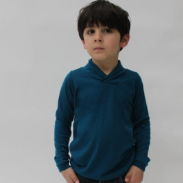 Shawl Collar top in Superfine Merino Wool