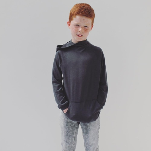 Hooded Jumper in Supersoft NZ Merino Wool
