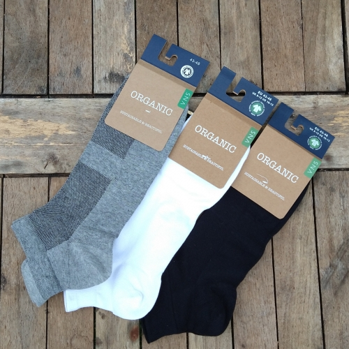Adult's Organic Cotton Ankle Trainer Socks