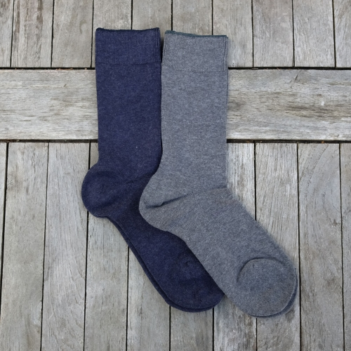 Adult's Soft Organic Cotton & Cashmere Socks