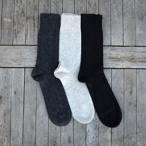 Adult's socks in Wool and Cotton