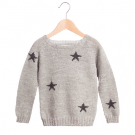Star Jumper Hand-Knitted in Baby Alpaca by Waddler