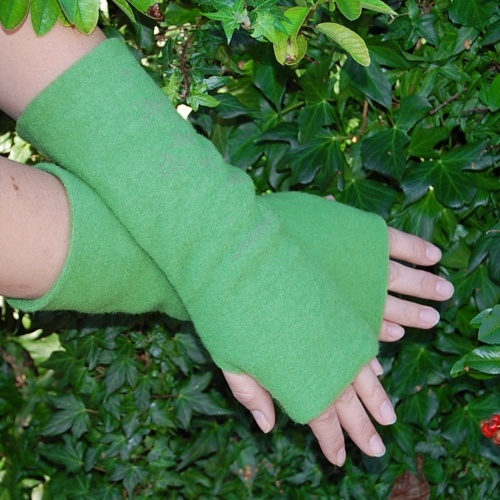 Fleecy Merino Wool Wrist Warmers