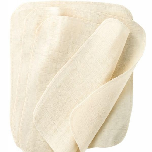 Organic Cotton Muslin Wash Cloth 5 Pack