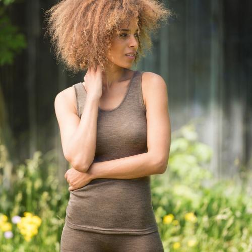 d59db8dd5601 Women's Wool/Silk Thermal Vest | Organic Merino Wool - £22.00