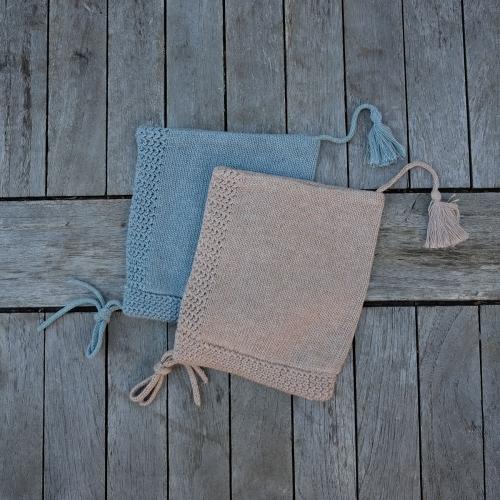 76f4dc501e1 Baby Tassel Hat In Organic Cotton   Silk Blend