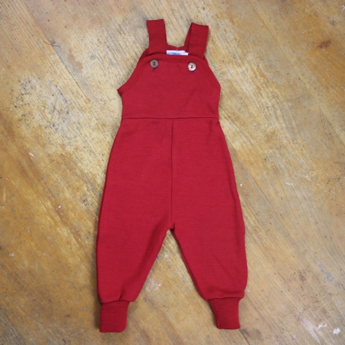 Dungarees in Merino Wool and Silk Terry