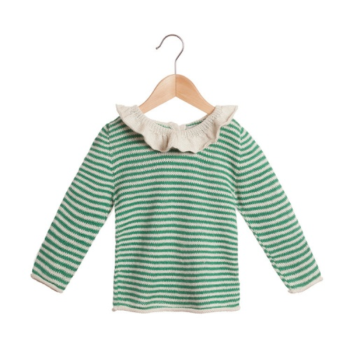 Striped Pierrot Jumper in Soft Baby Alpaca
