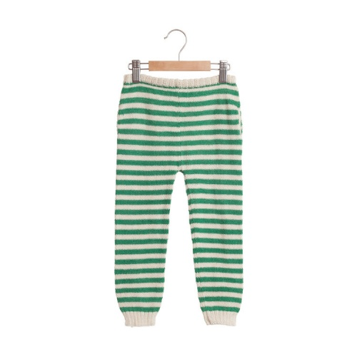 Striped Baby Trousers in Soft Baby Alpaca